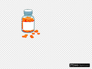 Blank Pill Bottle Rad