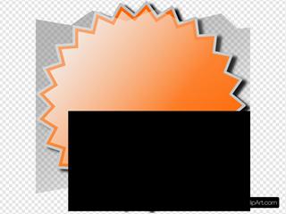 Orange Starburst Elongated