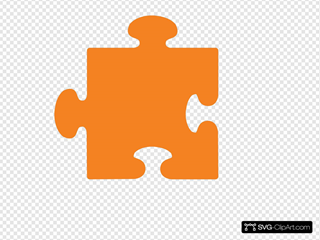 Orange Jigsaw Piece