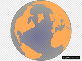 Orange And Blue Globe 2