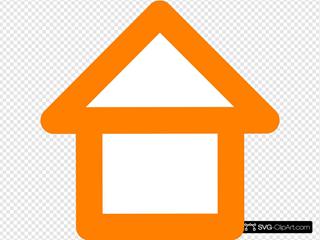 Orange House Outline