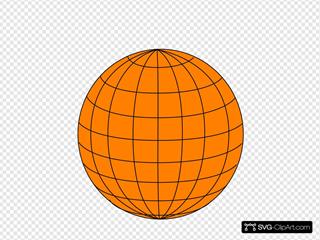 Big Orange Wire Globe