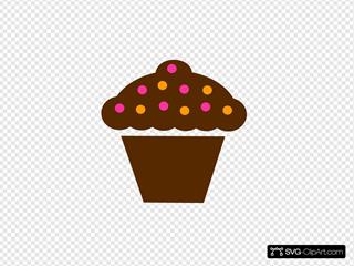 Polka Dot Cupcake