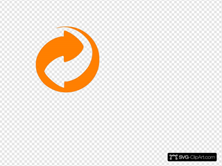 Orange Circular Arrows 2