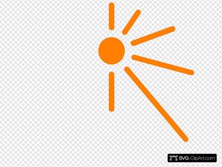 Half Sun Clip art, Icon and SVG - SVG Clipart
