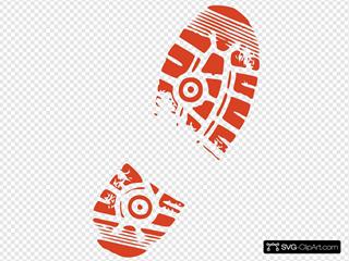 Shoe Print Orange
