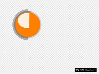 Orange Led Circle