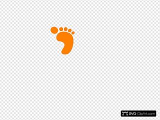 Square Orange Foot Clipart