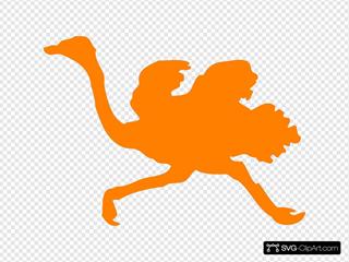 Orange Ostrich