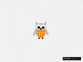 Orange Gray Owl
