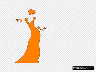 Orange Dancing Lady