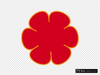 Red Orange Flower