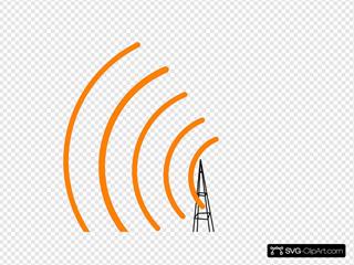 Antenne Noir Omnidirectionnel Frequence Orange Gauche