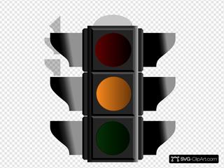 Amber Traffic Light 2