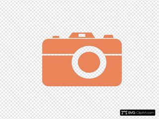 Orange Camera Thanks