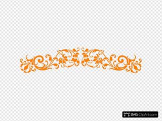 Orange Vintage Scroll