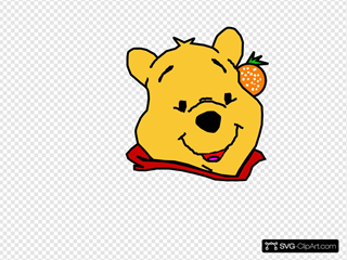 Winnie The Pooh With Orange Red Lip