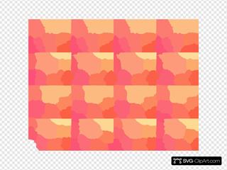 Wallpaper Pink Yellow Orange