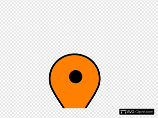 Orange Google Maps Pin