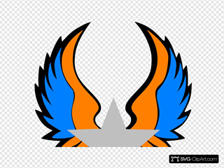 Orange And Blue Star Wings