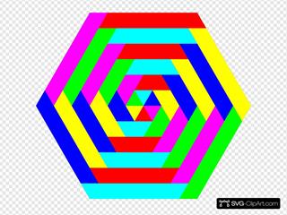 Hexagon Rainbow Colors