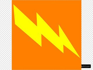 Bolt In Orange Bakground