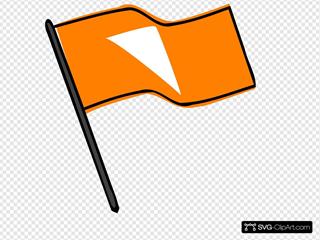 Waving Orange Flag