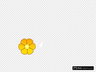 Orange Flower SVG Clipart