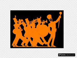 Orange & Black Marching Band