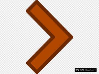 Orange Left Arrow