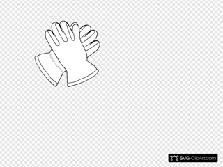 Gloves Outline