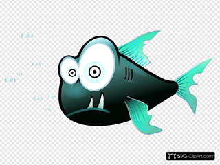 Cartoon Piranha Fish