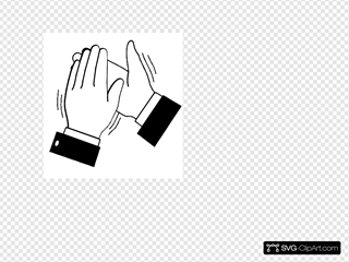 Black & White Clapping Hands