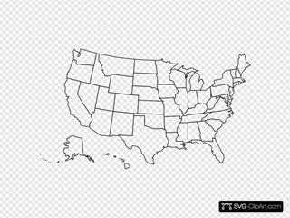 Usa Vector Outline