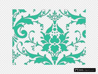 Teal Green Damask2
