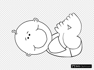 Lying Baby Outline