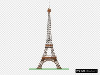 Eiffel Tower Paris Clip Art Icon And SVG SVG Clipart
