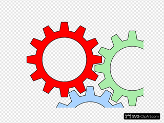 Tri-color Gears With Outline