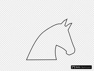 Horse Outline No Fill