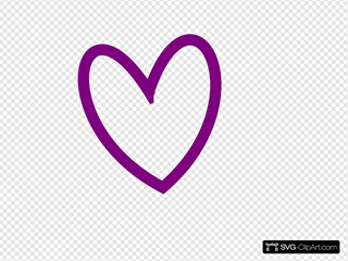 Slant Heart Outline