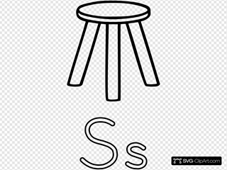 S Is For Stool Clipart