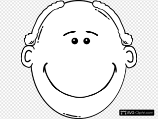 Smiling Man Outline