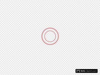 Round Circle Rope Border W Dots Seal