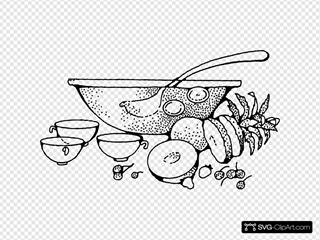 Punch Bowl SVG Clipart