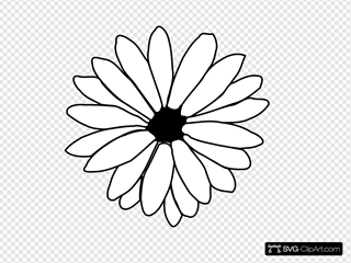 Daisy Outline Clip art, Icon and SVG - SVG Clipart