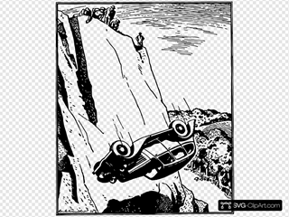 Car Flip Over The Cliff