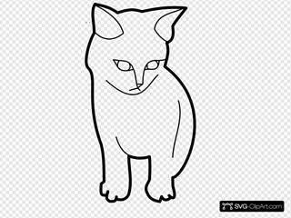 Sitting Cat Outline