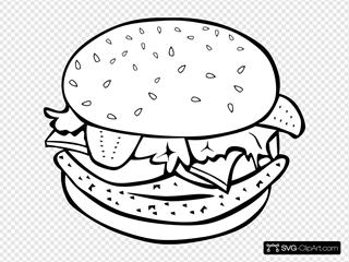 Chicken Burger (b And W)