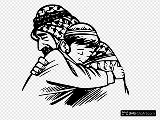 Father Hug Son
