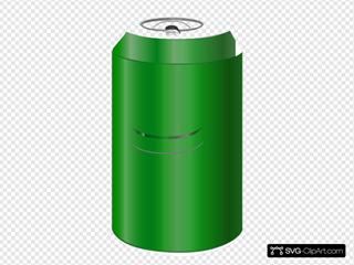 Vectorscape Green Soda Can